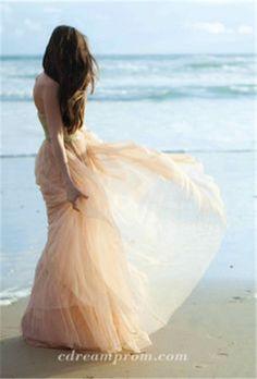 chiffon wedding dress  beach wedding gowns