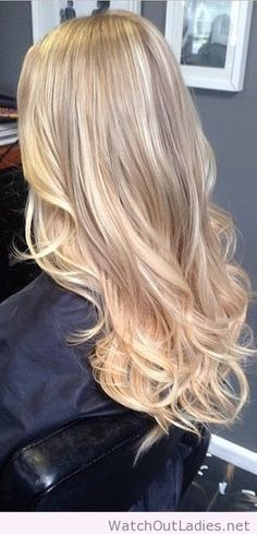 Honey and vanilla blonde highlights