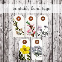 printable floral tags by packagery