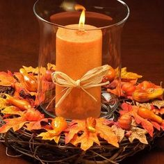 Centros de mesa de otoño 9