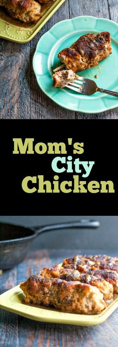 My mom's city chicken was a family favorite growing up.It's an easy to make weeknight meal.