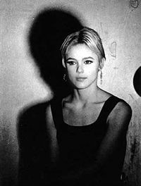 Edie Sedgwick. She was a sad and troubled young lady who died far too young. But there was something so ethereal and other-worldly about her. Maybe I'm just drawn to her old soul. She reminds me of Marilyn Monroe in a lot of ways...both Lost Little Girls, yes?