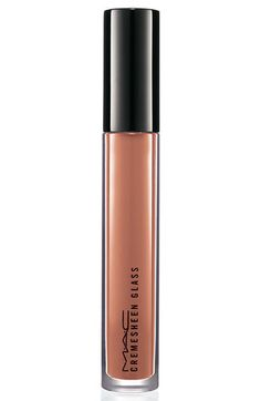 Mac Cream Sheen Gloss in Fashion Scoop...best pinky/nude for medium toned skin...smells like a cupcake