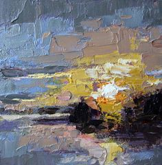 """Small impressionistic oil painting """"Take the Time""""  Gina Brown Art"""