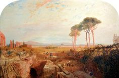 James Baker Pyne - 1865 Roman Aqueducts