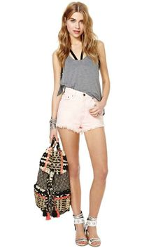 After Party Vintage Early Riser Cutoff Shorts