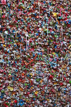 Wall Of Chewing Gum Seattle Photograph