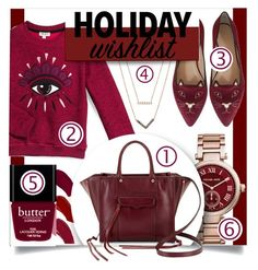 """""""My Holiday Wishlist!"""" by makingastatement ❤ liked on Polyvore featuring Ellis Faas, Michael Kors, Kenzo, Butter London, Charlotte Olympia, Rebecca Minkoff, contestentry and 2015wishlist"""