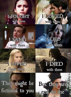 Idk who, Captain Swan, Kurt, Ally, Clarke, Rumbelle?, Idk who again, Regina