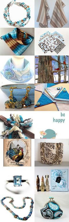 TNT: Tan 'n Turquoise by Celebration Times Team by Virginia Soskin on Etsy--Pinned with TreasuryPin.com