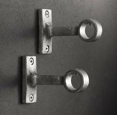 Unsere Exquisit geformten Klammern werden in einem Vintage Nickel Finish-vorhangschienen