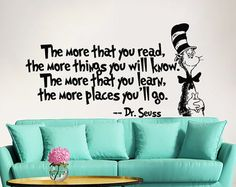 Dr Seuss Wall Decals Quotes Vinyl Stickers The by FabWallDecals