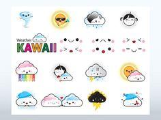 Kawaii Weather Vectors free