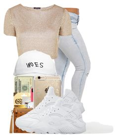 """""""."""" by ray-royals on Polyvore featuring Topshop, October's Very Own, Rifle Paper Co and NIKE"""