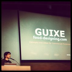 Presenting a food designer: Guixé  Photo by clusterexpo #ClusterInternationalWorkshop #Expo2015 #ExpoMilano2015 #Expo2015Cluster #MartiGuixe