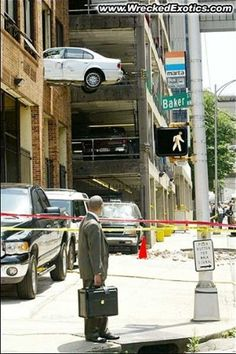 Parking Fail! Cars wrecked in lots and garages