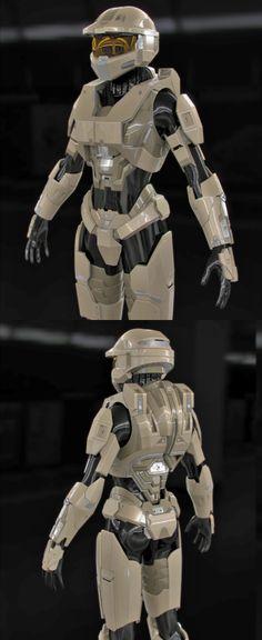 Halo Female Spartan Armor WIP2 by SgtHK