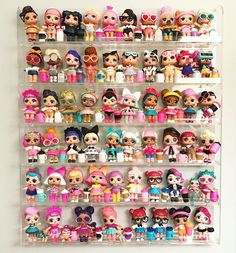 Lol Surprise Doll Display Shelf Rack 6 Pack L.L Organize Shelf Rack Wall Shelf - klara Doll Organization, Doll Storage, Toys For Girls, Kids Toys, Kids Wall Shelves, Doll Display, Shelf Display, Rack Shelf, Kids Bedroom Ideas