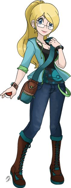 I think you would look like this if you were a Pokemon trainer. Azami - Pokemon Trainer OC by YukiDemon on DeviantArt