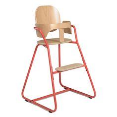 Chaise Haute Bébé évolutive Design TIBU Rouge