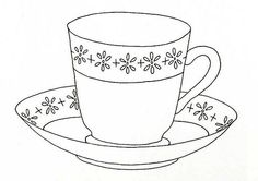 Sweet little tea cup and saucer.