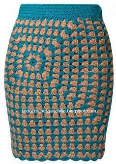 Ideas crochet granny square skirt inspiration for 2019 Granny Square Crochet Pattern, Crochet Granny, Crochet Stitches, Knit Crochet, Crochet Squares, Patron Crochet, Crochet Cardigan, Crochet Skirts, Crochet Clothes
