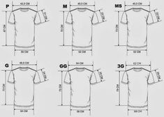 Patron de tallas T-Shirt
