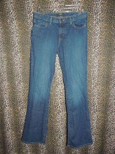 Eddie Bauer Jeans Co. Women's Stretch 5 PKT Denim Boot Cut Blue Jeans Size 10L #EddieBauer #BootCut