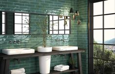 Create a beautiful ambience for your kitchen or bathroom with these stunning modern tiles. They come in a beautiful array of 10 modern colourways, and with their high gloss finish and uneven surface makes them perfect for areas with little or no natural light.
