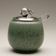 Gallery 925 - Georg Jensen Jam Pot, no. 4050A, Handmade Sterling Silver