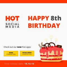 Happy 8th Birthday Hot in Social Media Team! 🎉🎉🎉 You can read a couple of #HotinSocialMedia's statistics in this article Event Marketing, Digital Marketing, Happy 8th Birthday, Statistics, Free Apps, Social Media, Events, Couple, Reading