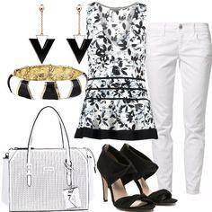 Bianco e nero di giorno  outfit donna Everyday per ufficio e tutti i giorni 3f80125e4a5