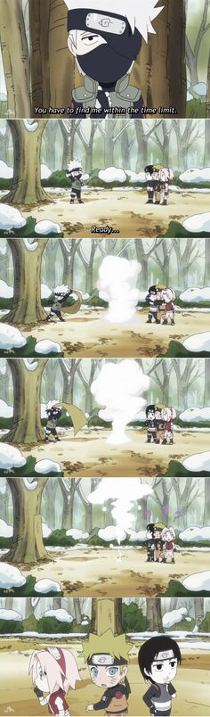 Naruto SD: Rock Lee and His Ninja Pals~~ Sometimes team Kakashi isn't the brightest