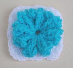 Lela's Flower Crochet Granny  -  Flower can be made seperate