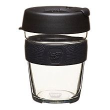 Buy KeepCup Brew Reusable 12oz Glass Coffee Cup / Travel Mug, 340ml Online at johnlewis.com
