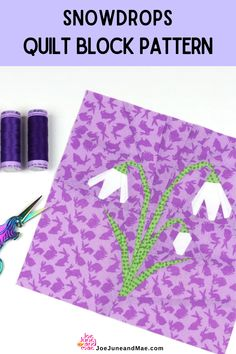 Who loves flowers? Check out this Snowdrops Craft that is perfect for you! This fabric crafts ideas is very easy to follow! #joejuneandmae #easterquilt #fabriccraft #quiltingtips #fabriccraft Beginner Quilt Patterns, Baby Quilt Patterns, Modern Quilt Patterns, Paper Piecing Patterns, Quilting For Beginners, Sewing Patterns, Quilting Projects, Quilting Designs, Quilt Blocks Easy
