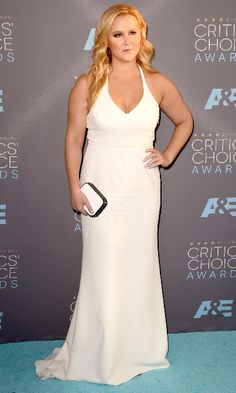 Amy Schumer in a Calvin Klein dress at the 21st Annual Critics' Choice Awards 2016