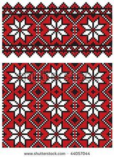 stock vector : ukrainian embroidery pattern