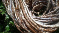 Alpaca and merino core spun yarn