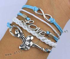 Infinity Love Ballerina Ballerina Charm Bracelet by superbracelet, $4.99