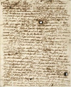 Marie Antoinette's last letter to her her sister-in-law Madame Elisabeth, stained by tears. So incredibly sad.  French and English translations at :  http://teaattrianon.blogspot.com/2007/05/last-letter-of-marie-antoinette.html
