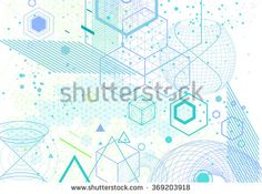 Sacred geometry symbols and elements background. Cosmic, universe, bing bang, alchemy, religion, philosophy, astrology, science, physics, chemistry and spirituality themes - stock vector
