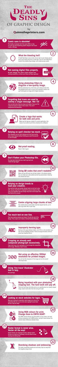 Graphic Design Sins: 22 Mistakes That Novice Designers Make