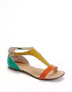 multi-colored sandals