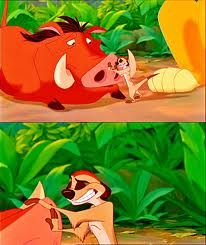 PUMBA AND SIMON FROM LION KING