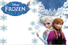 convites de aniversário da Frozen Elsa e Ana