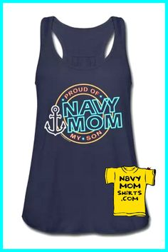 LOVE LOVE LOVE!!! Retro Neon Navy Mom Tank Tops by NavyMomShirts.com  #NavyMomShirts   I seriously love this tank top!!! Perfect for the summer - gotta have it!