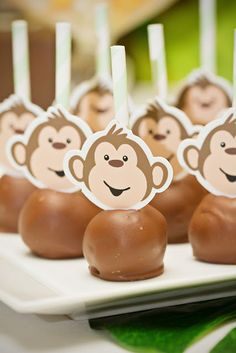 Piece of Cake: Monkey/Jungle Party.....instead of cake pop choco banano