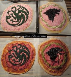 Game of Thrones Pizzas