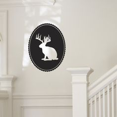 Hey, I found this really awesome Etsy listing at http://www.etsy.com/listing/60563535/jackalope-silhouette-vinyl-wall-art